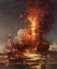Ship Afire